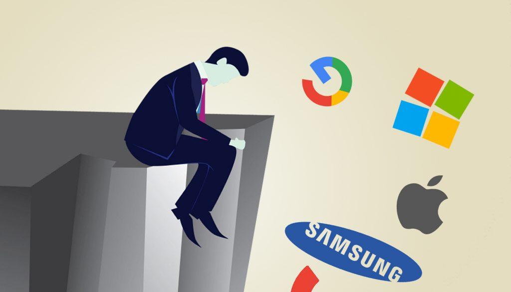 technology, Apple, Google, Samsung, Nokia, Microsoft, Failure, Face