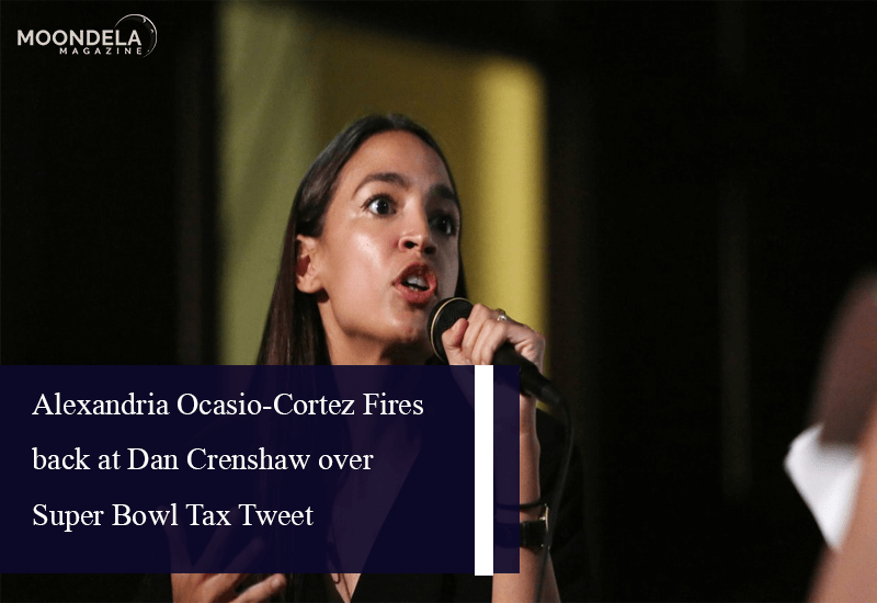 Alexandria Ocasio-Cortez Fires back at Dan Crenshaw over Super Bowl Tax Tweet