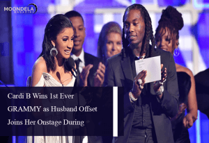 Cardi B Wins 1st Ever GRAMMY as Husband Offset Joins Her Onstage During Acceptance SpeechCardi B Wins 1st Ever GRAMMY as Husband Offset Joins Her Onstage During Acceptance Speech