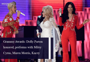 Grammy Awards: Dolly Parton honored, performs with Miley Cyrus, Maren Morris, Kacey Musgraves and Katy Perry