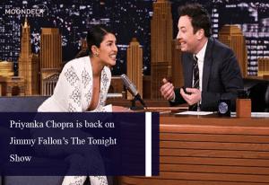 Priyanka Chopra is back on Jimmy Fallon's The Tonight Show