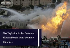 Gas Explosion in San Francisco Shoots fire that Burns Multiple Buildings