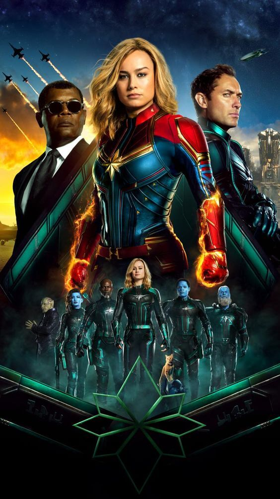 Top 10 best hollywood movie 2019 Captain Marvel