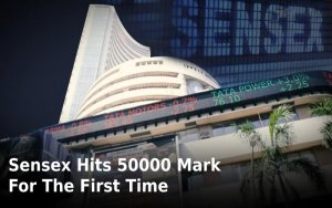 sensex hits 50000 mark